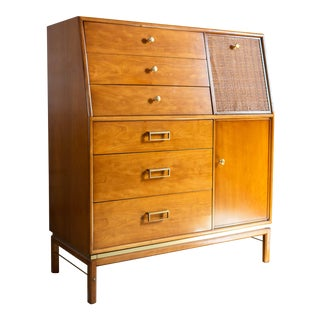 1960s Mid Century Modern Drexel Suncoast Gentleman's Chest For Sale