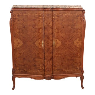 Marble Top French Style Bar For Sale