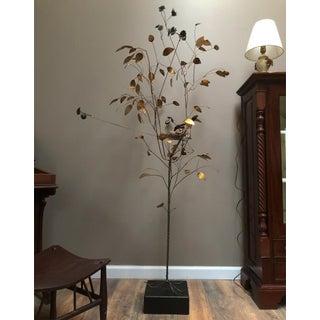 Curtis Jere Brass Tree Birds Nest Floor Sculpture Preview