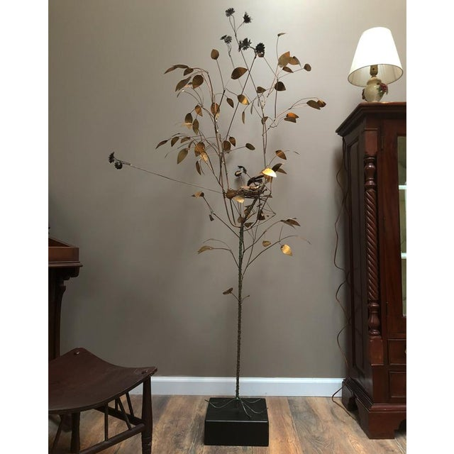 Extremely sought after and hard to come by in this condition. This Vintage Curtis Jere Floor Sculpture is hand crafted of...