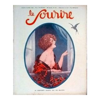 """Paul Briquet 1923 """"Le Printemps Chante Sur Les Balcons"""" Le Sourire Print"""