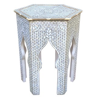 1980s Moorish Mother of Pearl Inlaid Side Table