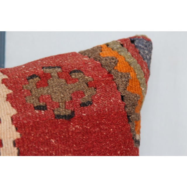 16-Inch Square Turkish Vintage Pillow Cover For Sale In Chicago - Image 6 of 9