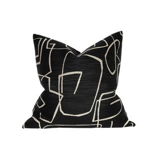 Abstract Onyx Pillow Cover For Sale