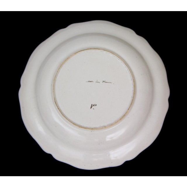 Ceramic Antique French Faience Veuve Perrin Pottery Bowls - Set of 4 For Sale - Image 7 of 8