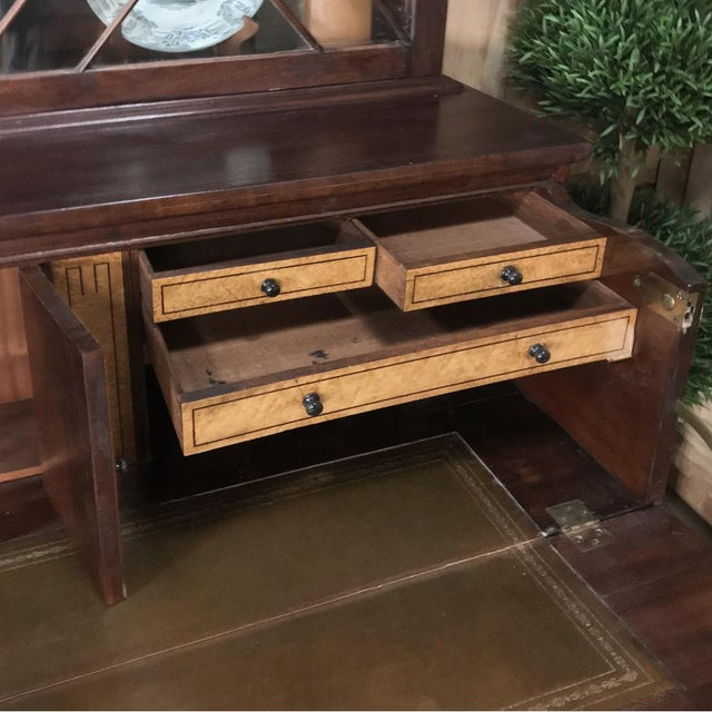 Wood Secretary/Bookcase, 19th Century Antique English in Mahogany For Sale - Image 7 of 13