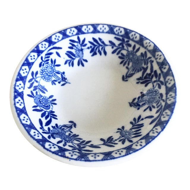 Chinoiserie Blue & White Trinket Dish - Image 1 of 6