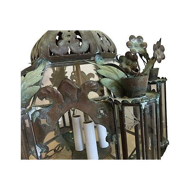 Mid-Century Moroccan Lantern Pendants - A Pair - Image 6 of 7