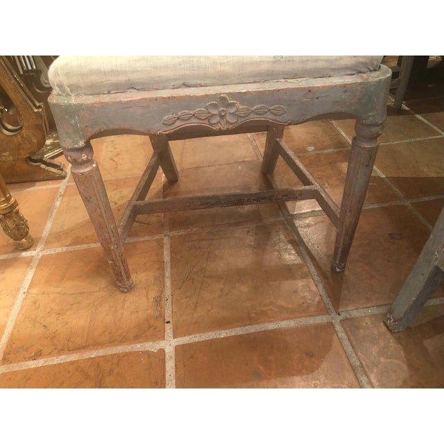 Wood Set of Six Gustavian Chairs For Sale - Image 7 of 9