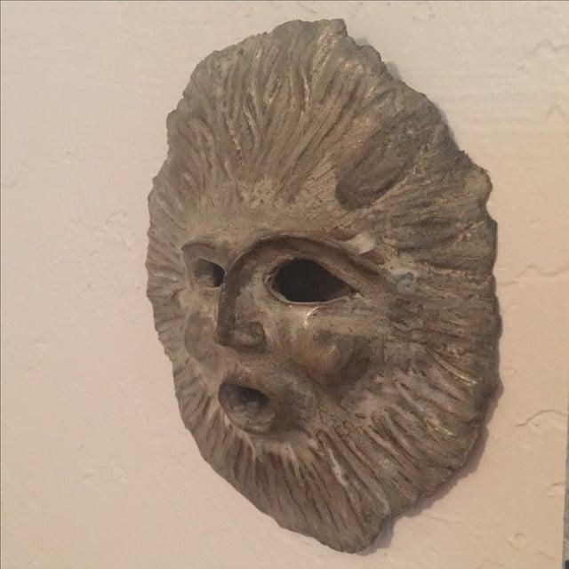 1970 Signed Vintage Studio Pottery Face Sculpture - Image 5 of 8