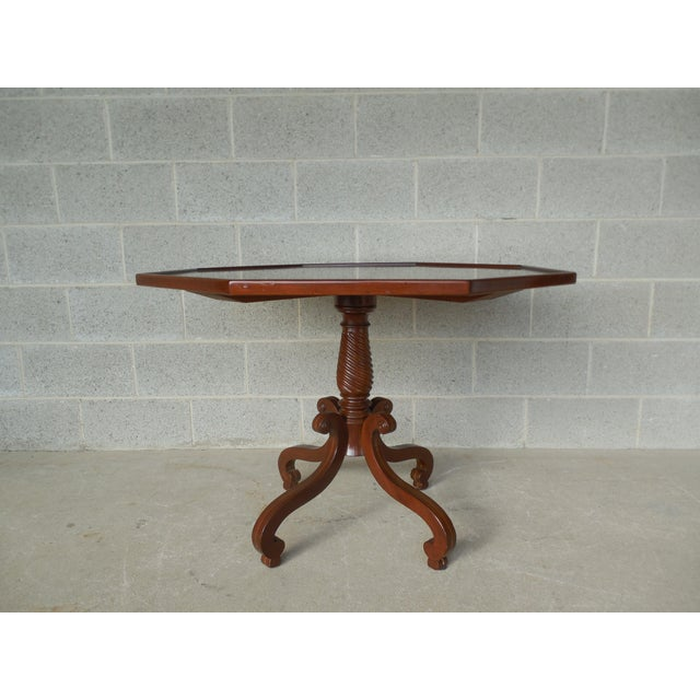 Mahogany Hadleigh Furniture Mahogany Regency Style Center Entrance Accent Table For Sale - Image 7 of 10