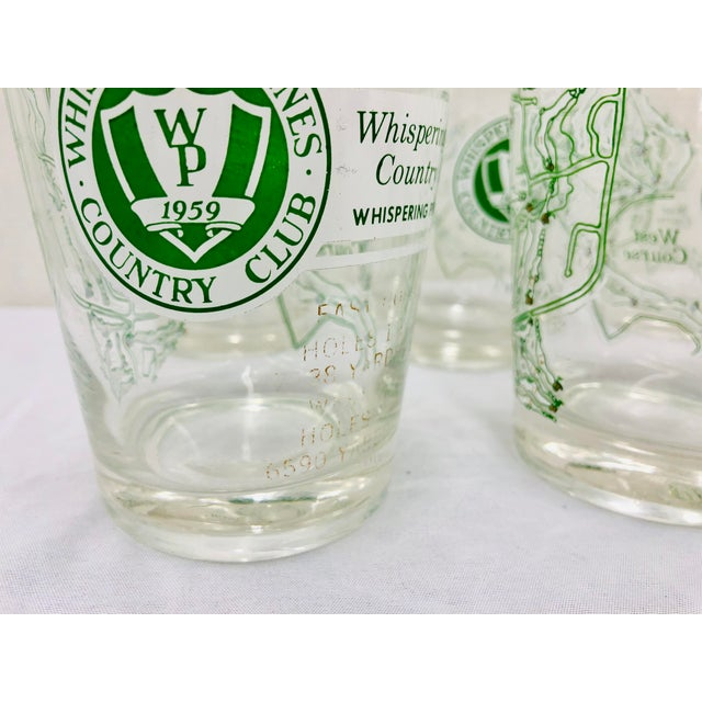 Mid 20th Century Vintage Golf Course Cocktail Glasses For Sale - Image 5 of 9