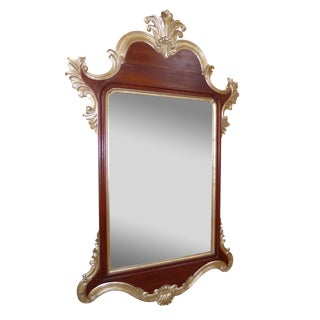 Large Harrison Gil / Christopher Guy 8 Foot Tall French Rococo Gold & Mahogany Wall Mirror For Sale