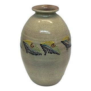 Vintage Cream Glazed Pot For Sale