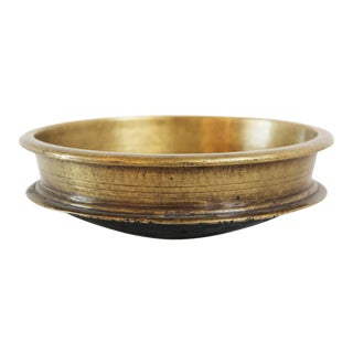 Vintage Indian Bronze Urli Bowl For Sale