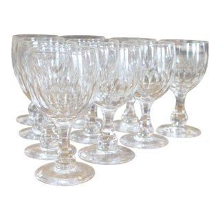 Baccarat Cut Glasses - Set of 10 For Sale