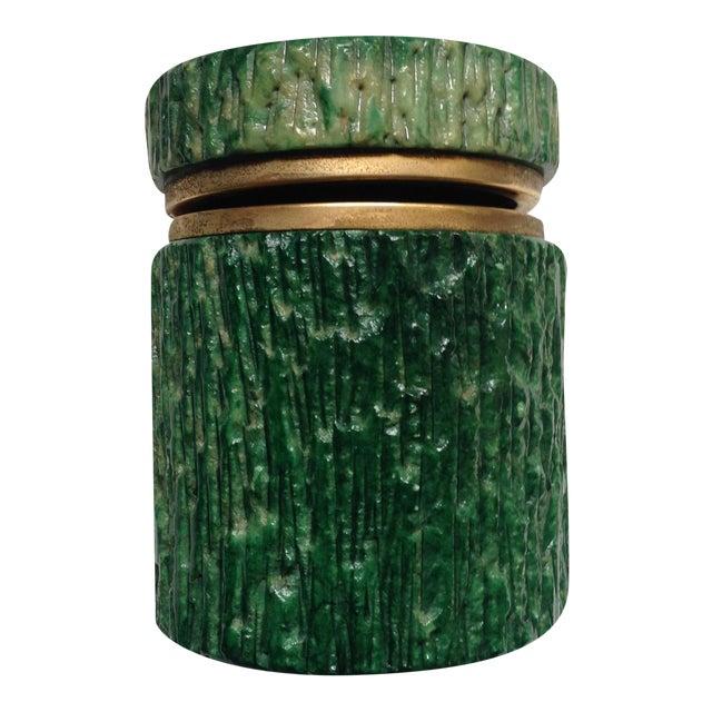 Italian Green Marble Box For Sale