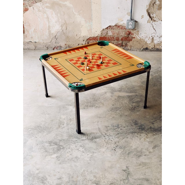 1950s Game Board Coffee Table For Sale - Image 5 of 5