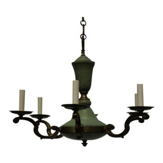 1940s French Neoclassical Chandelier For Sale