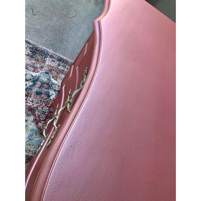Wood Vintage Drexel French Provincia Pink Triple Dresser For Sale - Image 7 of 13