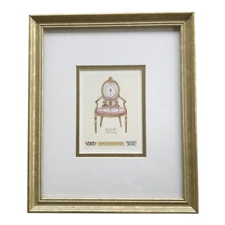 """English Style"" Print of Depicting of English Style Chair"