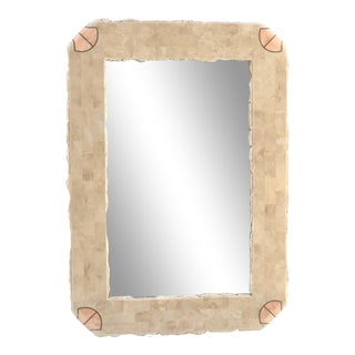 Vintage Brutalist Mirror by Maitland Smith For Sale