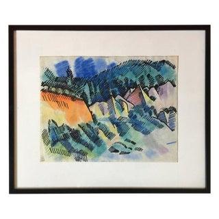 Pastel Landscape by Erle Loran #3 For Sale
