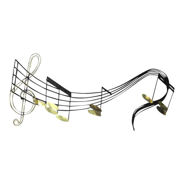 Music Notes Sculpture Signed Curtis Jere For Sale