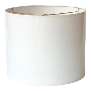 Medium High Gloss White Lamp Shade For Sale