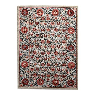 Tufted Suzani Area Rug - 8' x 10'