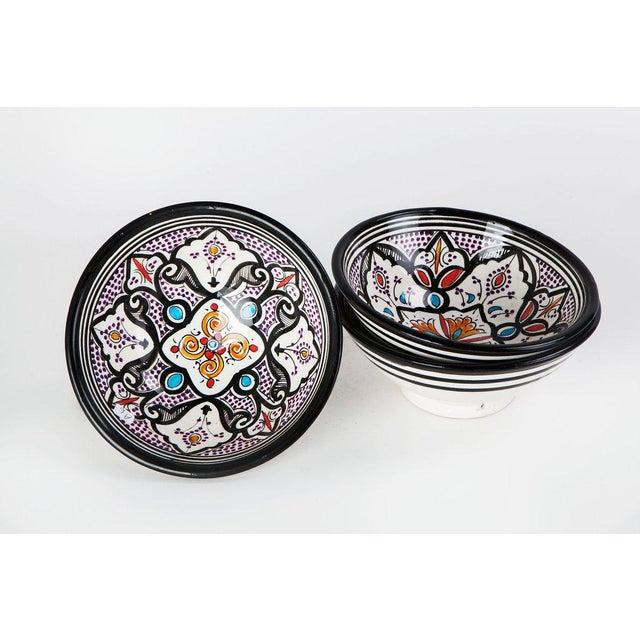 Boho Chic Black Bowls - Set of 3 - Image 2 of 5