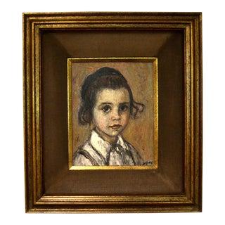 Portrait Oil Painting by Simon Raz For Sale