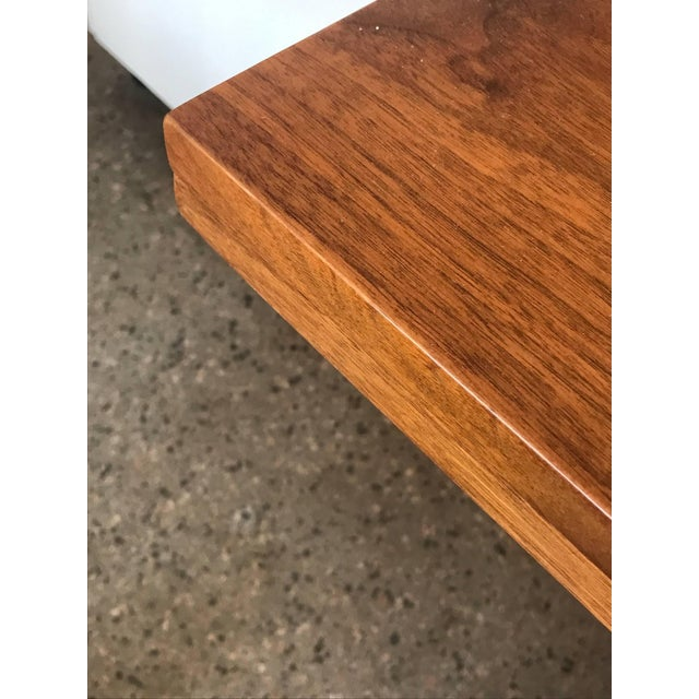 Brass 1950s Mid-Century Modern Edward Wormley for Dunbar Walnut Console For Sale - Image 7 of 10