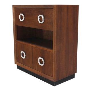 Mid Century Modern Walnut Drop Down Desk For Sale