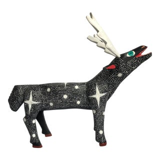 Late 20th Century Large Mexican Folk Art Deer For Sale