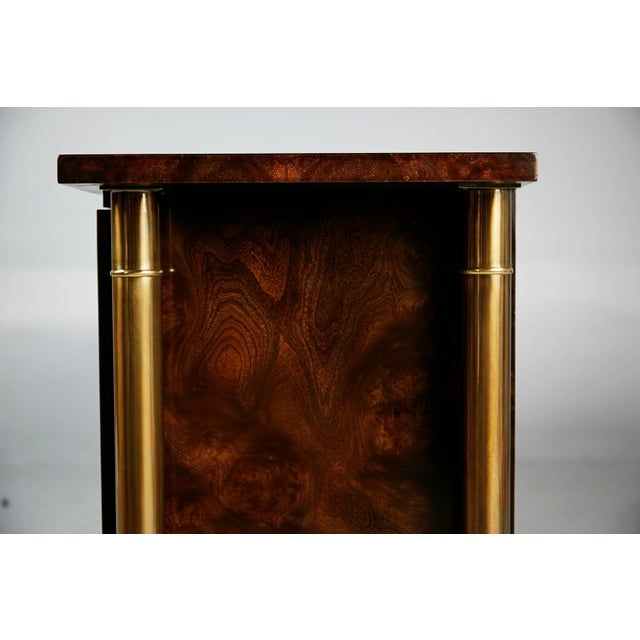 Gold 1960s William Doezema for Mastercraft Burled Wood and Brass Credenza For Sale - Image 8 of 11