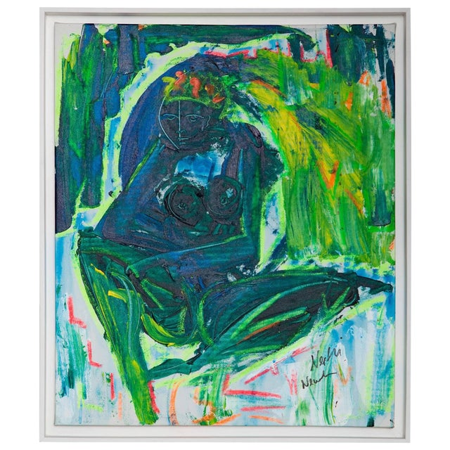 Untitled Abstract Nude Painting by Neith Nevelson   Chairish