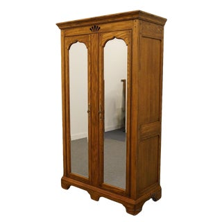 American Drew Country French Mirrored Door Media Armoire For Sale