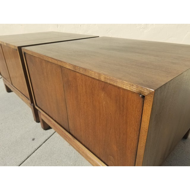 Vintage Mid Century Bedside Side Table Cabinets By Cal