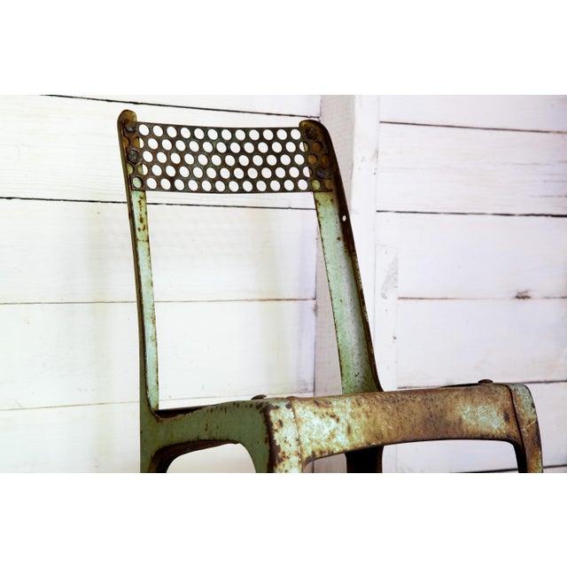1950s Vintage Metal Envoy #13 Vintage Americana School Chair For Sale In San Antonio - Image 6 of 9