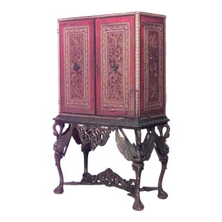 Spanish Renaissance Style Cabinet on Stand For Sale