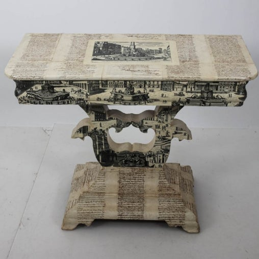 White Empire Style Decoupage Game Table For Sale - Image 8 of 8