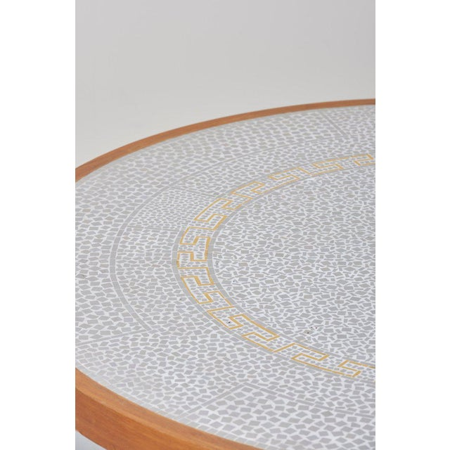 Metal Huge Mosaic Coffee Table by Berthold Müller, Germany, 1967 For Sale - Image 7 of 13
