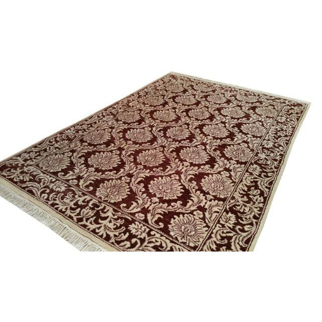 Traditional Hand Made Knotted Rug - 6x9 - Image 3 of 4