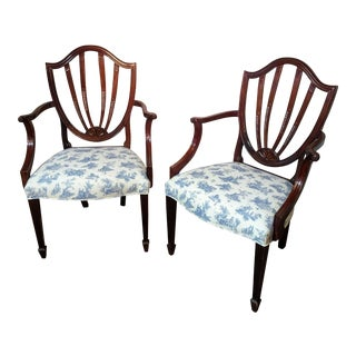 Late 20th Century Vintage Signed Baker Furniture Chairs- A Pair For Sale
