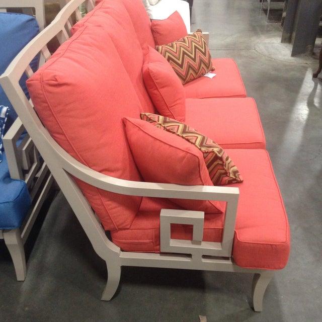 Contemporary Lane Venture Outdoor Sofa, Peach Color For Sale - Image 3 of 10