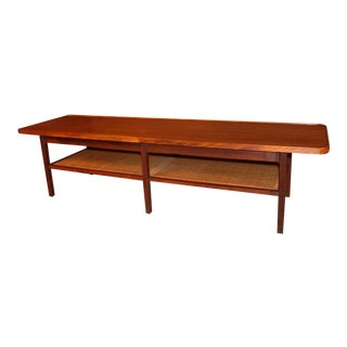 Mid Century Two Tier Coffee Table For Sale