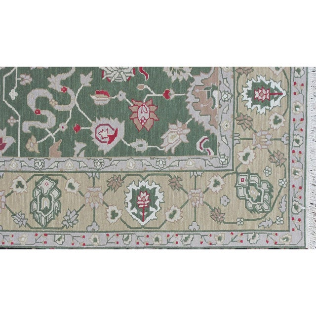 Islamic Soumak Design Hand Woven Wool Rug - 8' X 10' For Sale - Image 3 of 5