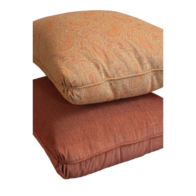 Designer Fabric Orange & Coral Pillows - Set of 5 - Image 3 of 4