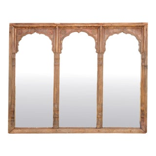 Large 18th Century Triple Arched Mirror For Sale